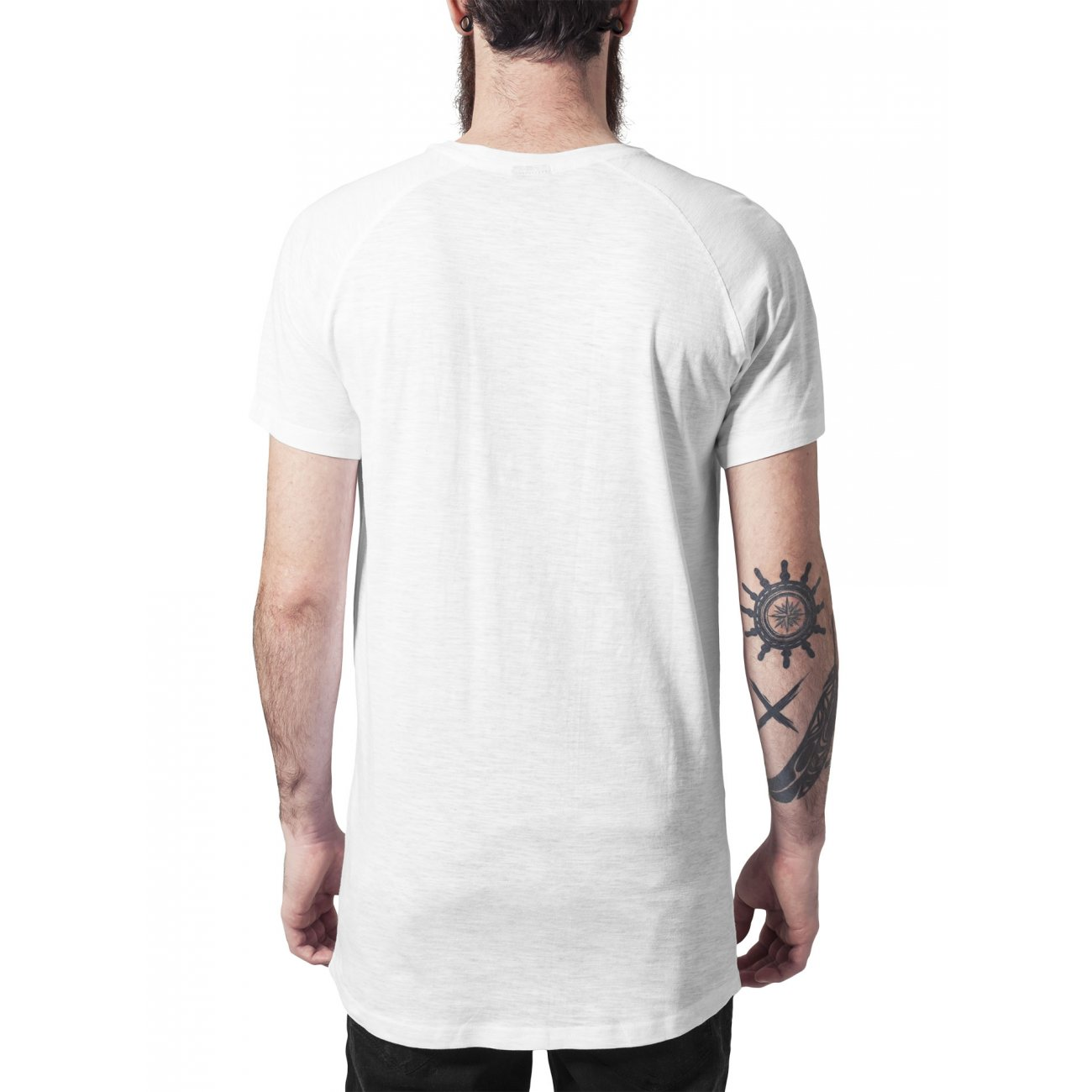 urban classics t shirt long shaped slub raglan shirt tb 968. Black Bedroom Furniture Sets. Home Design Ideas