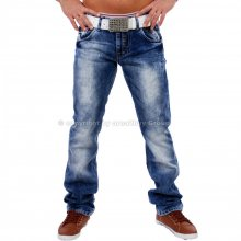 Amica A-9586 stone washed Jeans blau