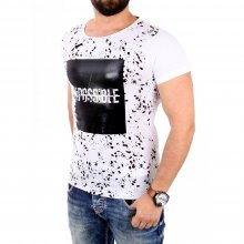 Carisma T-Shirt Herren IMPOSSIBLE Glanz Optik Print Shirt...