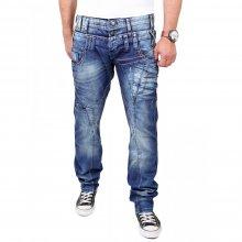 Cipo & Baxx Herren Jeans Dreifach-Bund Regular Fit Jeanshose C-1180 Blau W29 / L32