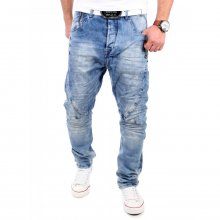 Cipo & Baxx Herren Jeans Loose Fit Tapered Used Look...