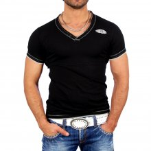 GOV Denim T-Shirt Herren V-Neck Shirt Z-027