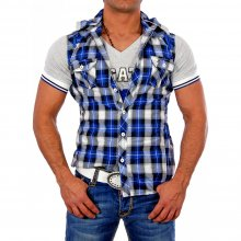 Kickdown Herren 2in1 Layer Style Shirt Kurzarm Hemd K-013