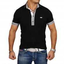 Kickdown Poloshirt Herren Slim Fit Club Wear Kontrast...