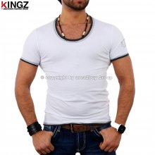 Kingz 22-25 oval Neck Layer Style T-shirt weiß