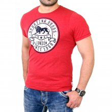 Lonsdale T-Shirt Herren WROTHAM Slim Fit Shirt LD-114742 Rot