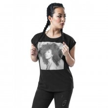 Merchcode T-Shirt Damen ALICIA KEYS Print Kurzarm Shirt...