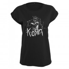 Merchcode T-Shirt Damen KORN CRACKED Print Kurzarm Shirt...
