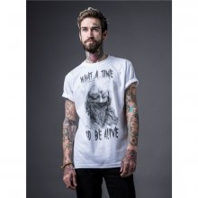 Mister Tee T-Shirt Herren What A Time Print Kurzarm Shirt...