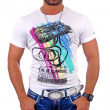Redbridge Herren Party Club Remix Print T-Shirt RB-1530