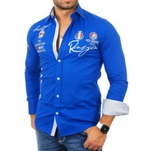 Redbridge Herren Party Club Style Langarm Hemd RB-2130