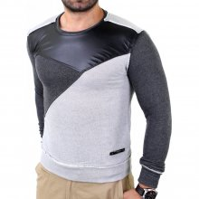 Redbridge Herren Vintage Look 2-Color-Style Pullover...