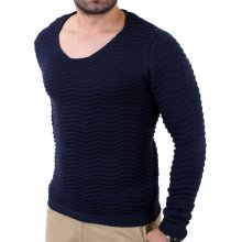 Redbridge Herren Wide Neck Feinstrick Pullover RB-41505