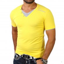 Redbridge R-1544 Layer Style V-Neck T-Shirt Gelb