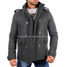 Redbridge R-5002 Winter Mantel Jacke Trenchcoat D-Grau