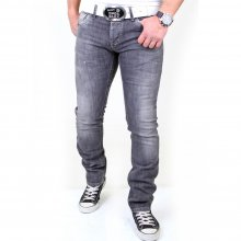 Reslad Herren Jeans Used Style Vintage Look Jeanshose RS-5895 Grau W33