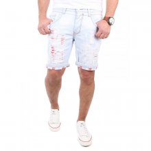 Reslad Shorts Herren Destroyed Look Jeans Bermuda Capri...
