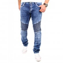 Tazzio Jeans Herren Denim Straight Fit Biker Look...