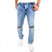 Tazzio Jeans Herren Kontrast Look Slim Fit Strech Hose TZ-16524 Blau W38 / L32