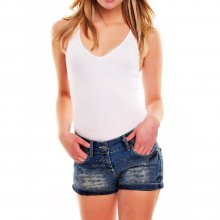 Tazzio Shorts Damen High Waist Bleached Style Jeans...