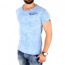 Tazzio T-Shirt Herren V-Neck Vintage Look Stiched Kurzarm...