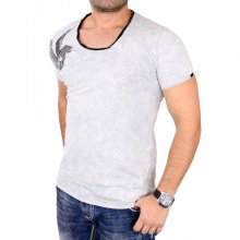 Tazzio T-Shirt Herren Washed Out Vintage Style Kurzarm...