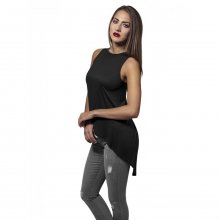 Urban Classics Damen Top HiLo Viscose Asymmetrisches...