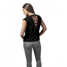 Urban Classics Damen Top Jersey Lace Up Ärmelloses Shirt...