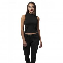 Urban Classics Damen Top Turtleneck Short Ärmelloses...