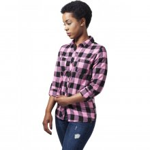 Urban Classics Hemd Damen Turnup Checked Flanell...