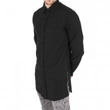 Urban Classics Hemd Herren Side-Zip Long Karo Flanell...