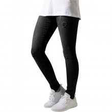 Urban Classics Hose Damen Ripped Destroyed Look Denim Jeans TB-1362 Schwarz W30