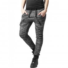 Urban Classics Jogginghose Damen Fitted Melange Zip...