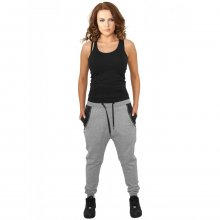 Urban Classics Jogginghose Damen Kunstleder Side Zip...