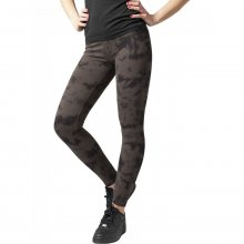 Urban Classics Leggings Damen Acid Wash Splash Damenhose...