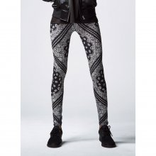 Urban Classics Leggings Damen Bandana Optik Damenhose...