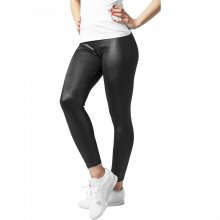 Urban Classics Leggings Damen Kunstleder-Optik Damenhose...