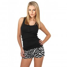 Urban Classics Shorts Damen Zebra Print Slim Fit Hotpants...
