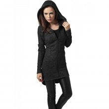 Urban Classics Strickjacke Damen Melange Look Zip Parka...