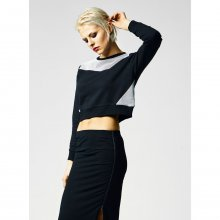 Urban Classics Sweatshirt Damen Cropped Mesh Terry...