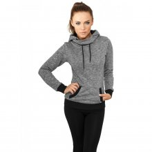 Urban Classics Sweatshirt Damen High Neck Contrast...