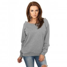 Urban Classics Sweatshirt Damen Open Edge Crewneck...