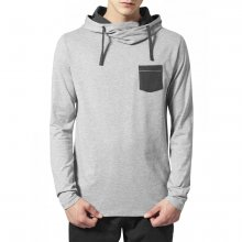 Urban Classics Sweatshirt Herren High Neck Pocket Hoody...