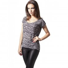 Urban Classics T-Shirt Damen Burnout Wash Rundhals...