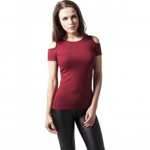 Urban Classics T-Shirt Damen Cuttet Shoulder Kurzarm...