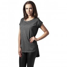 Urban Classics T-Shirt Damen Long Back Shaped Spray Dye...