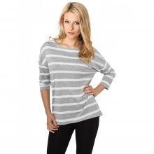 Urban Classics T-Shirt Damen Loose Striped Kurzarm Shirt...