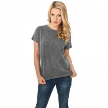Urban Classics T-Shirt Damen Used Look Regular Kurzarm...