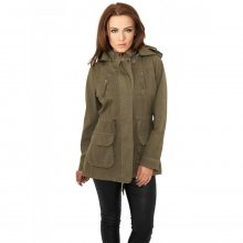Urban Classics Winterjacke Damen Cotton Parka Damenjacke...