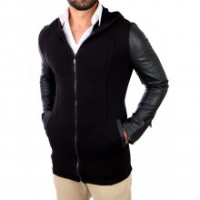 Young & Rich Sweatjacke Hooded Long Style Kapuzen Jacke...